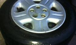 Intrepid Rims Tires & Factory Caps. Complete Set of Four. 225/60/16 Tires are descent. $60.00