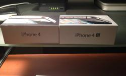 1-The iPhone 4G is 3 months use with 16 GB-Fido. 2-The iPhone 4GS is 1 month use with 16 GB-Fido, this cell has APPLE CARE for three years. Both has it´s original box with all the accessories. A perfect gift for Christmas¡ Please give me a call if you're