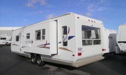 Double door entry, 2 rear swivel chairs, one large slide out, CD stereo w/TV hook up, fiberglass exterior, very clean. For more information please contact Captain Kirk 604-751-0340 Fraserway RV Stock # 33440 DL# 30644