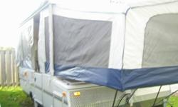 2005 Jay Series by Jayco, mint condition. 3 way fridge, water heater, in/out stove, outside shower,awing with add-a-room, King and Double bed, with fold down table for additional bed. Also has a couch. Lots of storage, a must see.