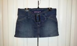Ladies Blue jean belted skort Brand: Garage Size: 7
