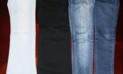 3 Jeans size 1 except 1 black size M - All $5 each Green cargo pants size 3 $5 Light purple sweatpants size XS -$2 Dark purple sweatpants size M - $2 Yellow capris pj's size L - free Green yoga capris size L -$2 Blue yoga capris size M -$5 Prices firm.