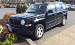 Make Jeep Colour Black Trans Manual kms 20000 Jeep Patriots sport,2.0 4 cyl ,5speed manual , 4x2 6.6L/100 Km , E.S.C.,,tire pressure monitoring, hill start assist ,T.S.. Roof rack .Nan smoker , no pets ,looks and drives like new , 3 moe years warranty.