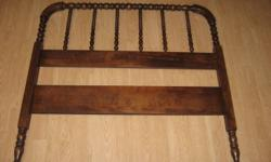 head board only and wooden side rails 74 inches long 42inches wide