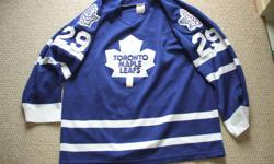 For Sale: CCM by Maska - Made in Canada. Maple Leafs `Potvin` jersey. Great condition. Size -Large...$25.