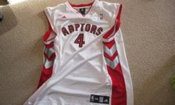For Sale; Raptors NBA jersey by Adidas. Bosh #4 - on back Smooth perferated,Clean-Mint condition. Sized XXL....$20.