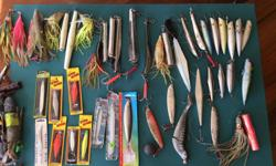 I have a selection of halibut,cod, and salmon jigging lures. Also squirt and hochies. Take some ore take all
