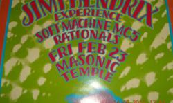 Jimi Hendrix tour poster *Mint condition* Jimi Hendrix @ Masonic Temple 1968 poster is signed by Gary Grimshaw, the artist who created the poster. Pictures obviously don't do the poster justice.    $125.00 or make me an offer I can't refuse.