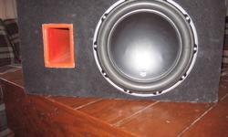 sub and box great condition 320.00 o.b.o