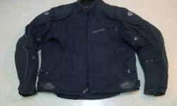 Hi   I have an older Joe Rocket Meteor Jacket in black size XL   No rain liner, and no thermal insert.    A little sun faded, but otherwise good condition