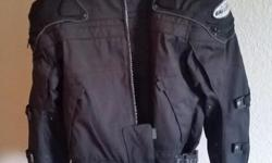Joe rocket ballistic series jacket. Inner liner comes out. Built in shoulder and elbow pads. Great shape. Its an XL but it fits more like a medium or a large. $300 new. $100 obo