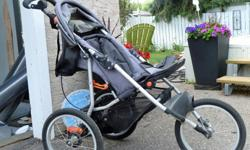For sale is a schwinn jogger stroller in excelent condition.Gently used. Plastic rain cover. protects child from rain, snow and wind.