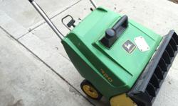 This snow blower runs like a deere and is in excellent shape. Could be a collectors items.