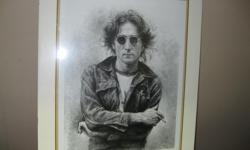John Lennon Limited Print signed No 8/ 250 by Yao16 x 12 inches