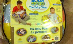 JOLLY JUMPER BABY SITTER PILLOW MY SON WAS FORMULA FED THIS WAS ONLY USED TO PROP HIM IN SITTING POSITION COMES WITH EXTRA BLUE COVER (AS SHOWN) AND SEALED CHOCOLATE BROWN COVER! :) GOOD FOR BOY OR GIRL. PILLOW ITSELF RETAILS 29.99 EACH COVER RETAILS