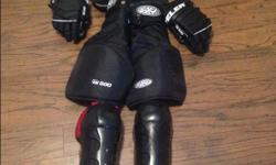Can sell separately I have junior small or junior large, hockey pants, gloves, shin pads, helmet, shoulder pads, socks etc. All in good condition.