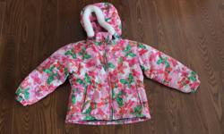 Jupa Girls Snowsuit, Two piece - Size 3 Used but still in great condition. Slightly faded in knees and bum.  Jacket has removable hood.  Keep your little one warm and cozy.  Comes from a smoke free and pet free home.