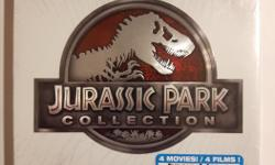 Includes: Jurassic Park Jurassic Park 3D Jurassic Park: The Lost World Jurassic Park 3 Jurassic World Jurassic World 3D Brand new and unopened.