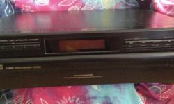 JVC 5 Disk front load automatic disk changer. Tested and works excellent, some scratches and scuffs on the top. Power cord included. About 8 years old but has not been used in 5.