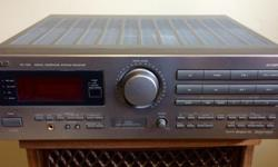 A JVC RX-709V Dolby Surround Pro Logic digital receiver in very good to excellent cosmetic and working condition. Nice sound, well looked after. SEA programmable graphic equalizer with memory presets and surround effects. Front channels; 100 watts, rear