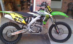 MINT 2009 KAWASAKI KX250F for sale. monster energy graphics, pro action suspension, ONLY 40 house on it!!! $3500 O.B.O.