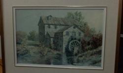Brenda's Mill, nice piece beautifully framed.  OBO