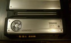1000W Kenwood KAC-7252. Comes with remote mounted frequency and bass controller still in bags.
