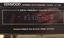 WORKS AND SOUNDS LIKE NEW Clean in and out, smoke-free * Japan, 1991 * PLL Quartz Lock Synthesized Tuner * Excellent reception and sound * Auto/Manual * 16 memory presets * AM/FM channel space switch * De-emphasis switch * Antenna terminals: 300 Ohm, 75