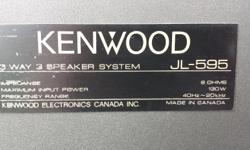 """Made in CANADA 3-way Floorstanding 130Watts 10""""woofers Model jl-595 Surrounds Cones Caps are good no problems Located in Cloverdale hooked up ready to test energy yamaha quest dahlquist nuance definitive technologies jamo cerwin vega mirage nht sony nec"""