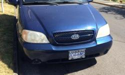 Make Kia Model Sedona Year 2004 Colour royal blue Trans Automatic This car feels and drives like a new car! It's clean and has low kilometers, just 123,000. It has cruise control, air-conditioning, keyless entry. Battery and tires are fairly new. The