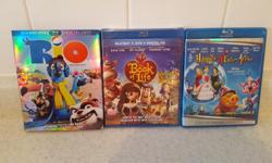 Kid's blu-rays. $5 each. Rio, The Book of Life and Happily N'Ever After. Pick up in Kanata North.