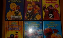 Selling Kids DVD's Sesame Street Barney Doodle Bops Care Bears  All DVD's work Great for the kids Asking $5 each but willing to make a deal for multiples.   See other ads for more kids stuff