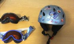 Kids light Blue youth medium Mole Helmet in great shape Outgrown it And goggles $5 each SOLD only helmet left
