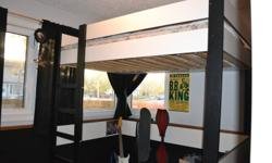 Ikea Loft bed - Paid 400.00 last year Bought it for my son who has decided he doesn't like it. Twin bed with storage on one side of bed. Does not come with mattress.