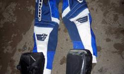 """Used but not used up! No rips or breaks. Good quality, just outgrown. The boots are Fox Trackers, Size 2. The pants are Thor Phase style#1210 ,Size 22"""" The Chest Protector is good quality, made by Six Six One. Not sure of the exact size, have a look at"""