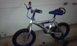 """14"""" Supercycle in good condition. Training wheels included."""