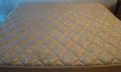 I am selling my King Size mattress with two boxsprings. Used for 5 years but still in good condition: firm, clean, no stains. Pet and smoke free house. Orthopedic, with a good back support. Downsizing, don't have space for it anymore. I am asking $199 but