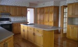 Oak cabinets, corian counter tops, double ceramic sink, large island must be sold quickly, all ready removed from kitchen and ready to go.