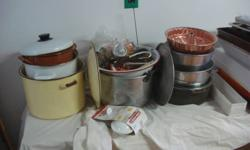 """Kitchen Collection Nice stocking stuffer for the right person! Large pots, trays, utensiles etc... See Photo's provided. Great gift for a """"hard-to-find-for"""" person!"""