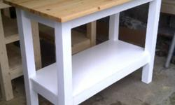 """Hand crafted brand new tables / islands / prep stations 20"""" by 48"""" by 36"""" High extremely sturdy and very clean look. any size available at a great price. A great solid wood alternative to an Ikea furniture Features; 3/4"""" thick pine (butcher block) top"""