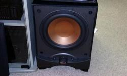 klipsch subwoffer hit very hard and in very nice shape