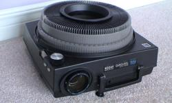 1) Kodak Carousel Slide Projector. Perfect working order complete with remote control, bulb and lens. Some slide trays available. $125 -- SOLD -- 2) KODAK Ektagraphic III A Slide Projector (second picture). This is the Rolls Royce model. Comes with all