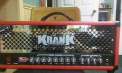 Hey there, I'm looking to sell my Krank Rev head for $1,600 OBO! I'm willing to negotiate the price, feel free to shoot me some offers. I bought this amp brand new for over $2000. Literally the only thing wrong with this amp is a tiny knick in the tolex.