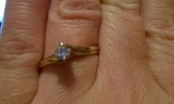 Or Best Offer - sorry the pics aren't that great This is a steal at this price beautiful diamond solitaire Engagement Ring Yellow Gold band with some etching near setting - white gold setting Approx 1/2 c I also have a beautiful unique band - see other
