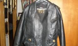 I HAVE A LADIES BLACK LEATHER BIKE JACKET HAS NEVER BEEN WORN I BOUGHT IN TORONTO FOR $300 I AM SELLING THE COAT FOR $100 CASH FIRM IF INTERESTED GIVE ME A CALL AT 289-296-6038 WILL FIT A TALL LADY THIS ADD WILL BE GONE WHEN ITEM IS SOLD PHONE CALLS ONLY