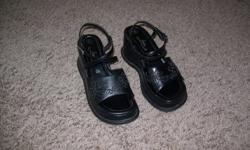 Ladies black shoes size 6 - $10