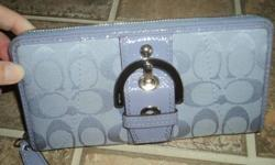 Ladies Authentic Purple Coach Purse with Matching Wallet - NEW
