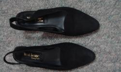"I have two pairs of ladies size 6 shoes for sale.  Some wear but still in good condition.     Pictures 1 & 2 - West Avenue Black Shoes - Heels are about 1 1/2"" - Asking $2.00 Pictures 3 & 4 - Aldo Navy Shoes - Heels are about 1 1/2"" - Asking $2.00   Or"