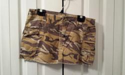 Ladies American Brown Camo Cargo Skirt Brand: Seduction Size: 5
