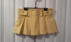 Ladies Yellow Jean Skirt Brand: Buffalo David Bitton Size: 29